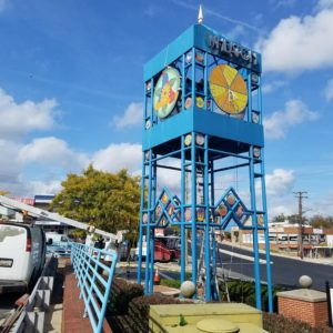 Wheaton Tower after AOB mosaic installation